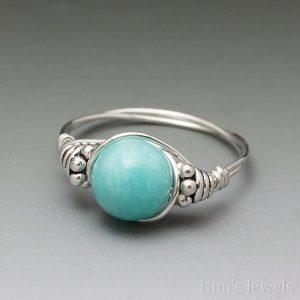 Amazonite Bali Ring