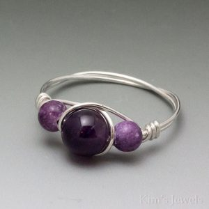 Amethyst & Charoite Ring