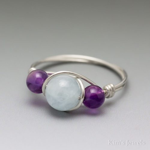 Aquamarine & Amethyst Ring