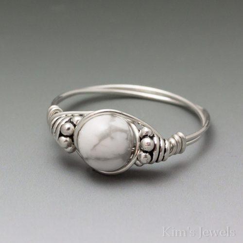 Howlite Bali Ring