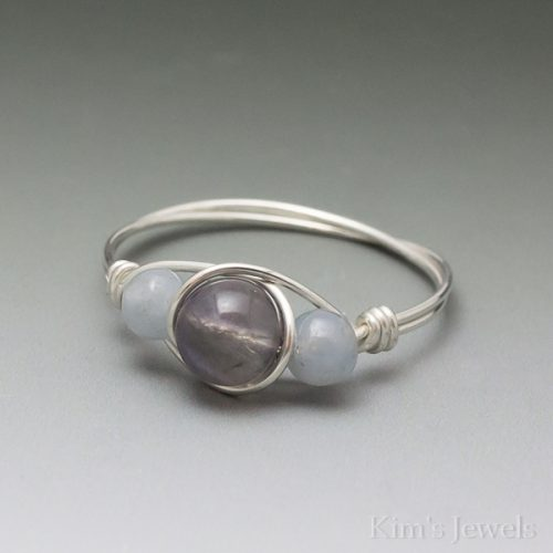 Iolite & Angelite Ring