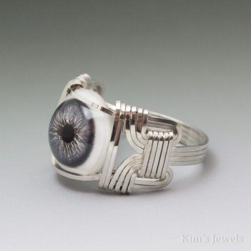 Blue Glass Eye Ring