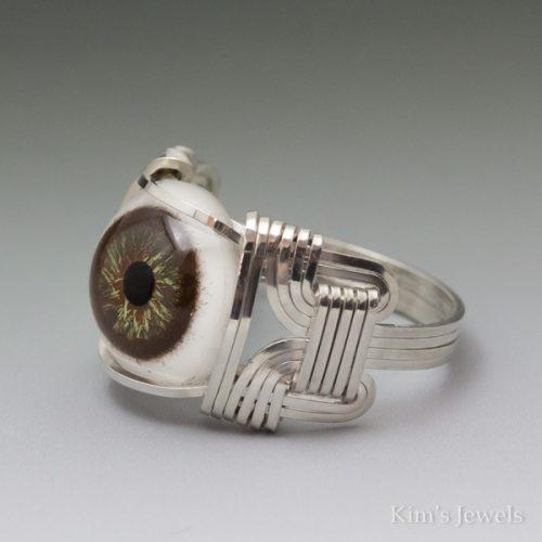Hazel Glass Eye Ring