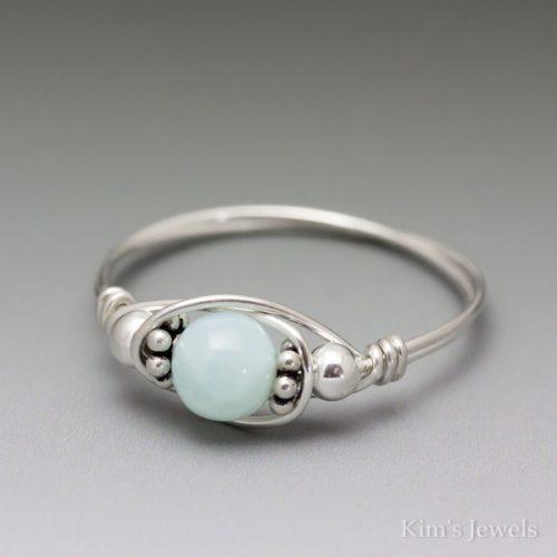 Blue Opal Bali Ring