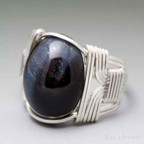 Blue Tigers Eye Ring