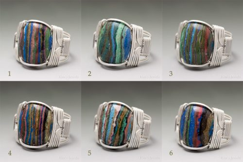 Rainbow Calsilica Rings