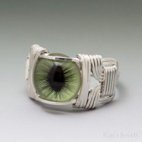 Green Cat Eye Ring