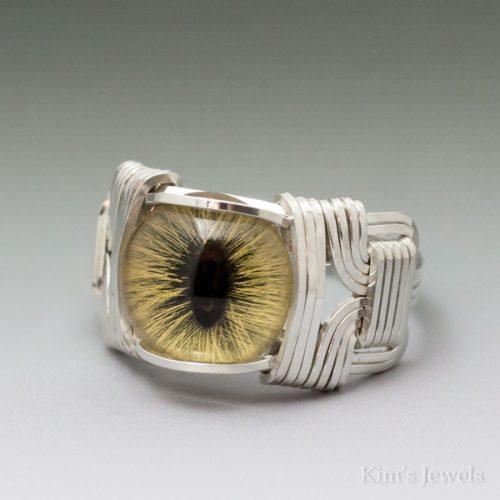 Yellow Cat Eye Ring