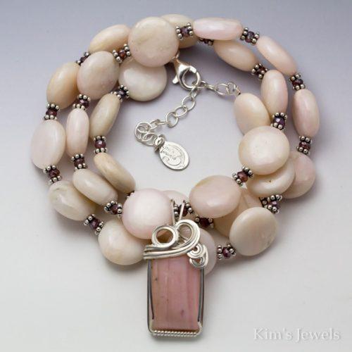Peruvian Pink Opal Necklace